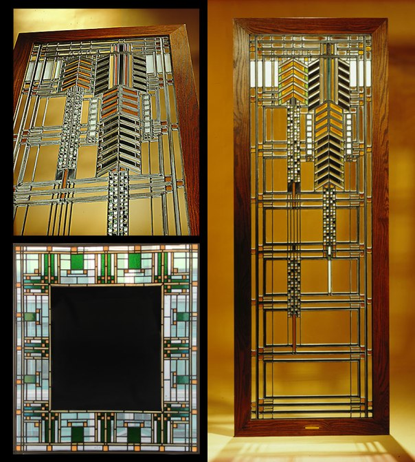 Frank Lloyd Wright's window reproductions by Thoennes Studios in 1997-1998.
