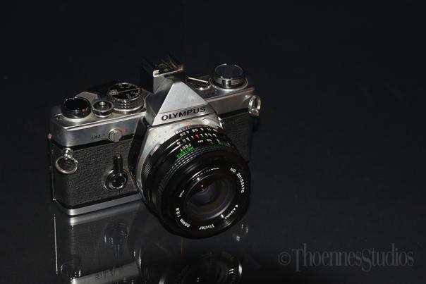 Olympus OM2 SLR camera.